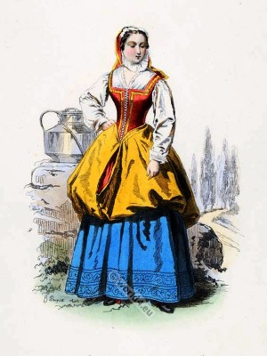 baroque, Milkmaid, costume, 17th Century, Bagnolet, fashion history