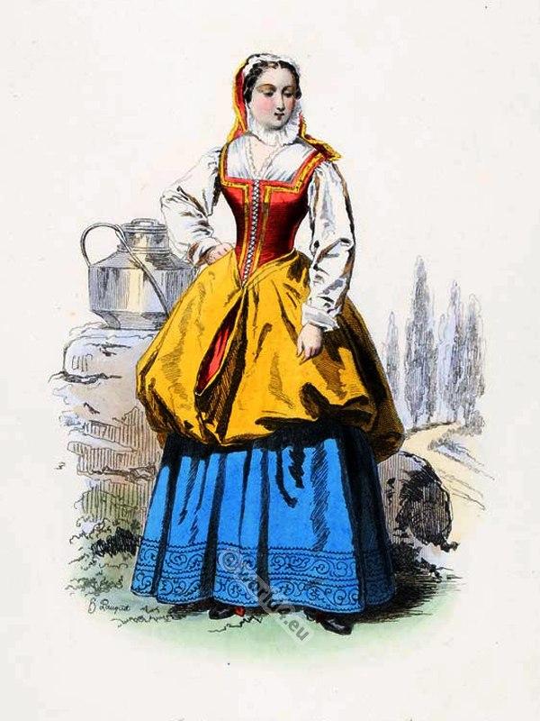 Laitière, Milkmaid, Louis XIV, fashion, history,