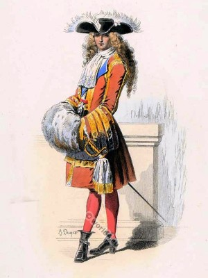 Chevalier costume. Order of St. Louis. Modes Louis XIV fashion. baroque costumes.