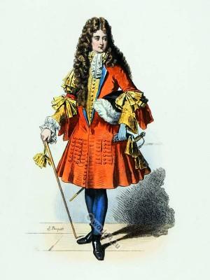Louis XIV fashion. Chevalier. Versailles. Court dress.