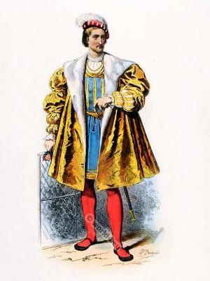 Henri d'Albret 1527. Renaissance fashion. 16th century fashion. Tudor costume