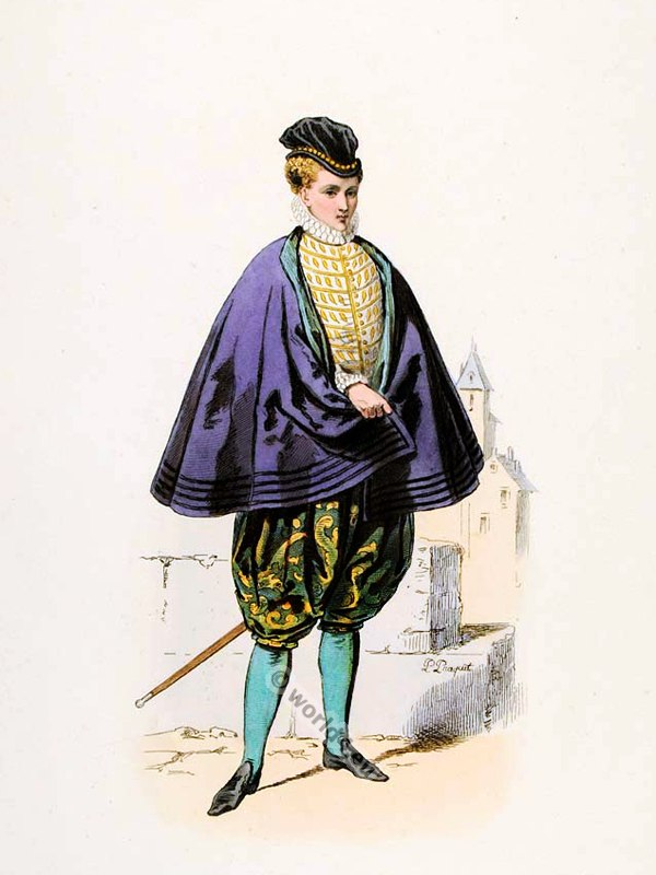 Ancien Régime fashion. Spanish clothing fashions. Renaissance nobility costume.