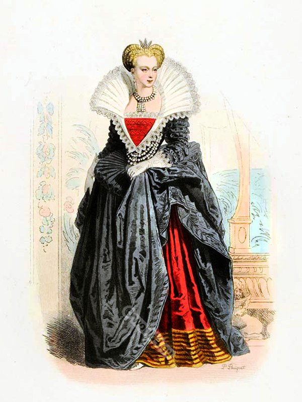 Marguerite, Valois, Margaret, France, Queen, Vertugado
