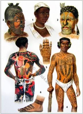 Ornamental tattooing. Tattoo tribe Maori. Borneo Tribals. Japanese full body tattoo