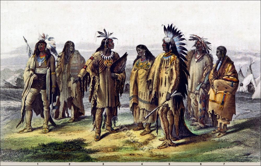 Assiniboine, American, natives, Iriquois, Pawnee, Dakotah, Sioux,