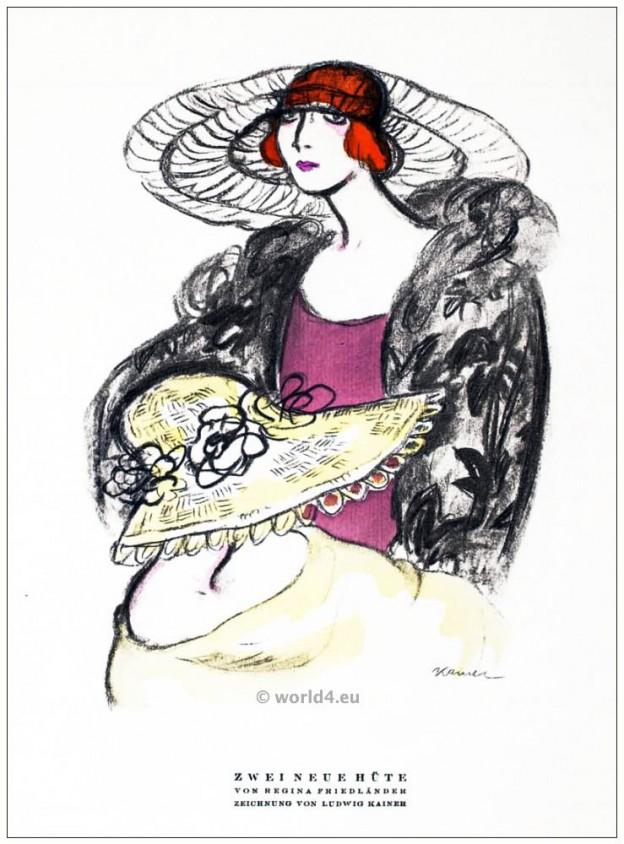 Regina Friedländer, costume designer, jewish, berlin, 1920s, art deco, Styl, fashion magazine