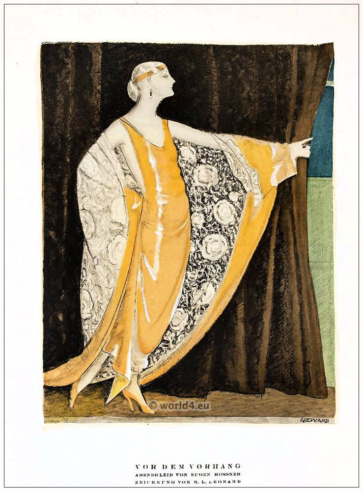 Before The Curtain Evening Dress By Eugene Mossner Art Deco1922