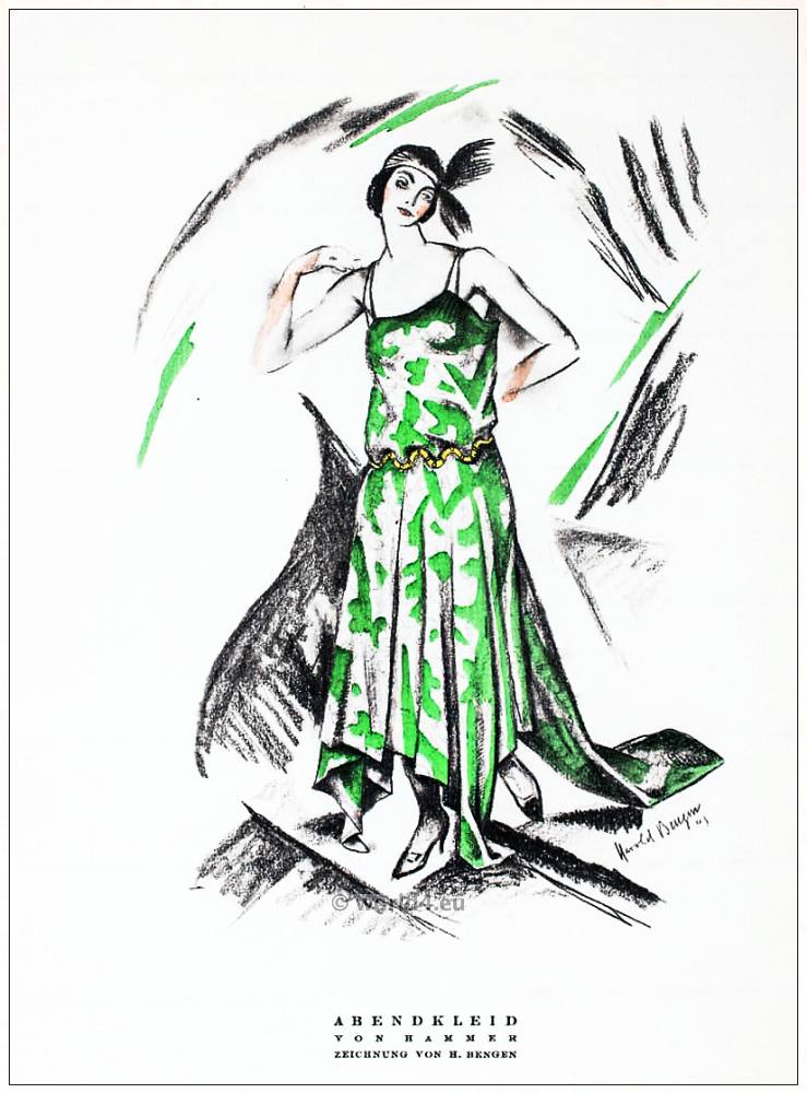 Evening dress, Hammer, Art-deco, fashion, STYL, Magazine,
