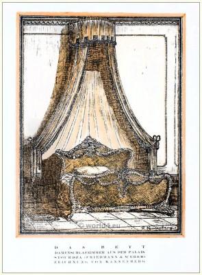 Palais Stourdza. Ladies bedroom. STYL. Art Déco Fashion Magazine.