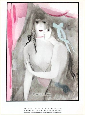 Painting by Marie Laurencin. STYL Art Déco Fashion Magazine. German Art deco costumes 1920s.