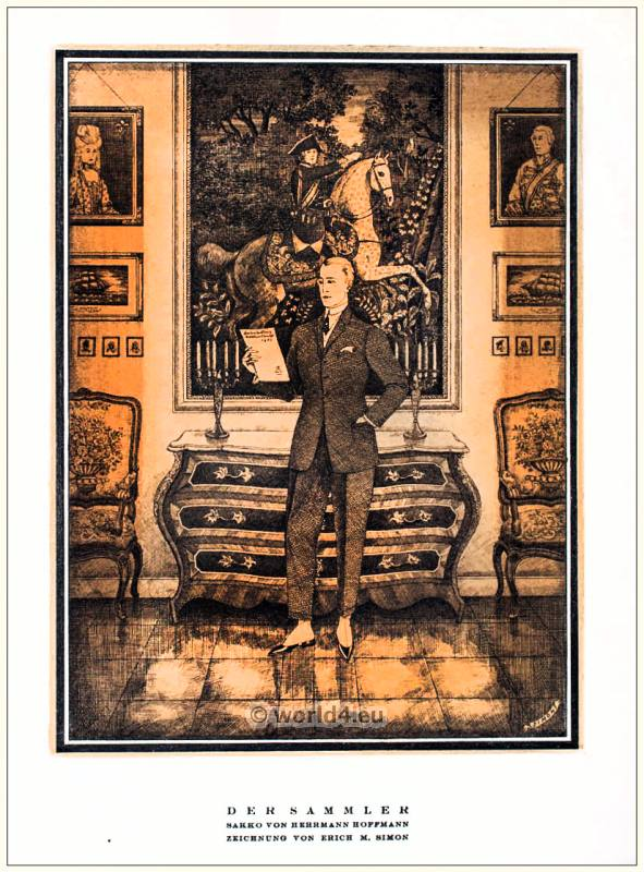 Jacket by Herrmann Hoffmann. STYL Art Déco Fashion Magazine. German Art deco costumes 1920s. Roaring twenties fashion. Gibson Girls clothing.