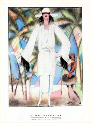 STYL, Art Déco Fashion Magazine. German Art deco costumes 1920s. Roaring twenties fashion. Gibson Girls clothing.