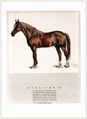 Gulliver II chestnut stallion 1909. STYL, Art Déco Fashion Magazine.