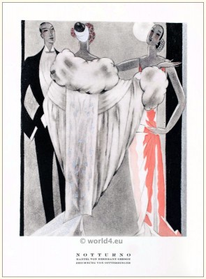 Art deco Coat by Herrmann Gerson. STYL, Art Déco Fashion Magazine. Roaring twenties fashion. Gibson Girls clothing.
