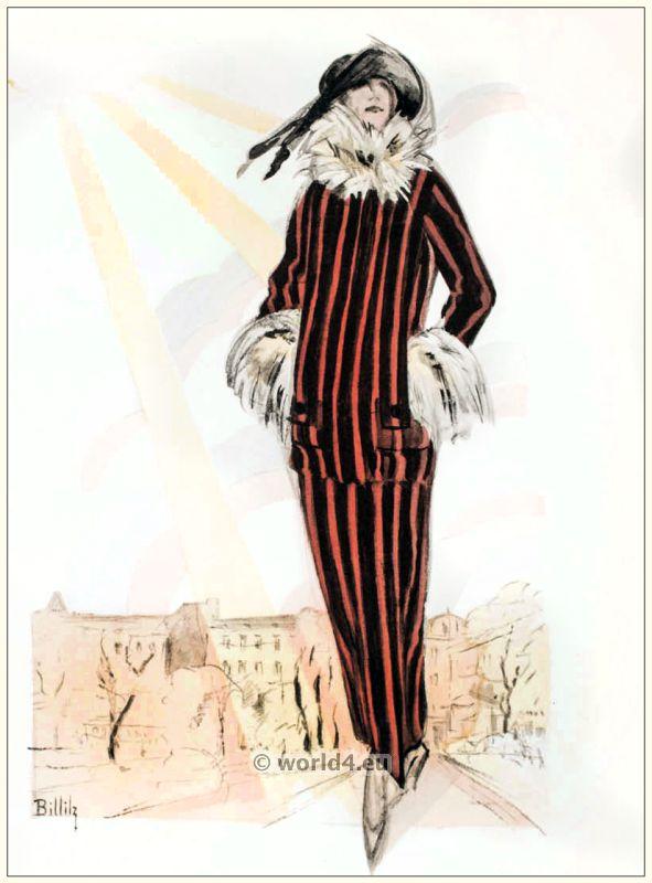 Art deco Jacket dress of the house Zornig & Mattoni. STYL, Art Déco Fashion Magazine. Roaring twenties fashion. Gibson Girls clothing.