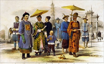 Mongol Race. Chinese and Cochin Chinese. Ancient Chinese Clothing and Costumes. Mandarin dress