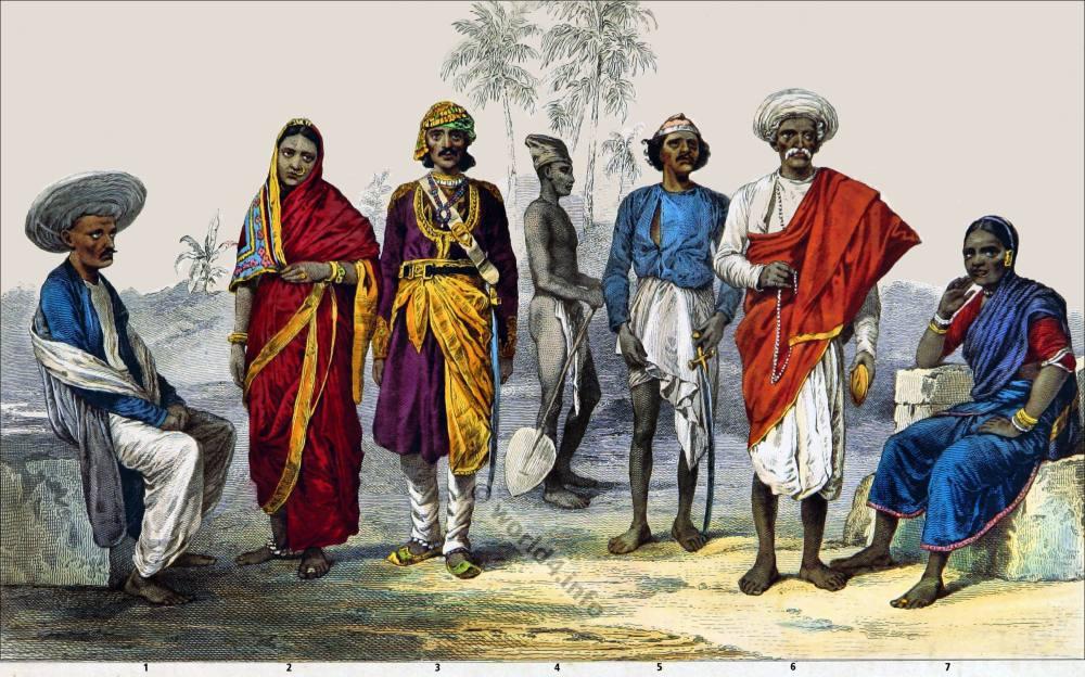 India, Hindoos, hindu, costumes, Coolie, Brahmin, Kamathi, dresses, Baishnoo, Traditional,