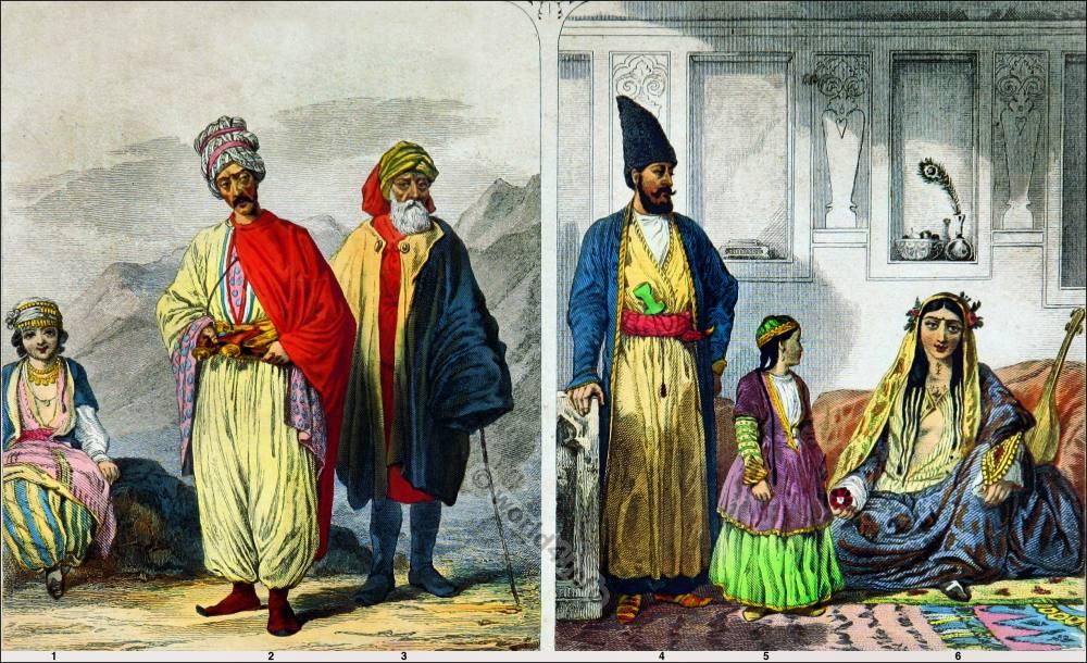 Kurds, Persians, costumes, Priest, Teheran, Ararat,