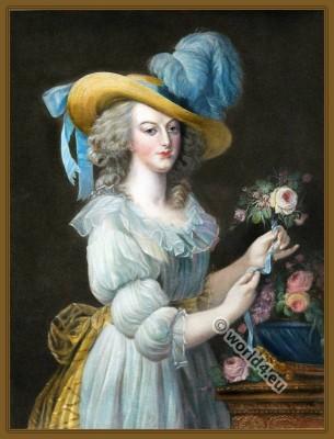Queen Marie Antoinette, Louis XVI, Court dress, Rococo, fashion history, 18th century