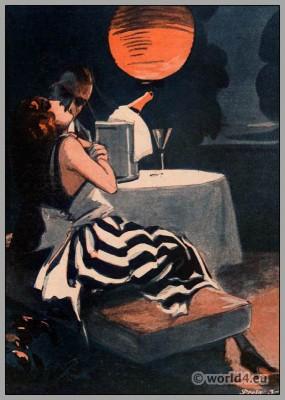 Art Deco fashion. Roaring Twenties. Costumes 1920s. The bachelor magazine. Berlin fashion.
