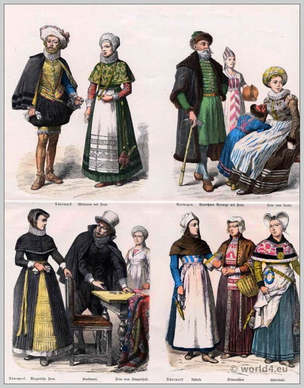 Norway, Denmark, costumes, baroque, fashion, clothing