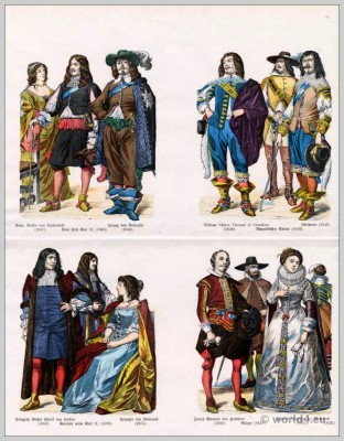English fashion, 17th century, Royalist, soldier, William Villiers, Viscont, Anna, Countess, Chesterfield,Francis, Duchess, Richmond, Palace, Guard, Costumes, citizens, Slingsby Bethel, Sheriff, fashion history