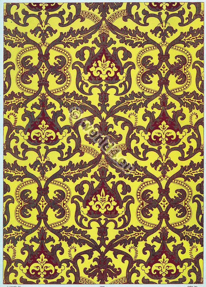 Textile, design, Louis XIV, 17th, century, Fabrique, Française,
