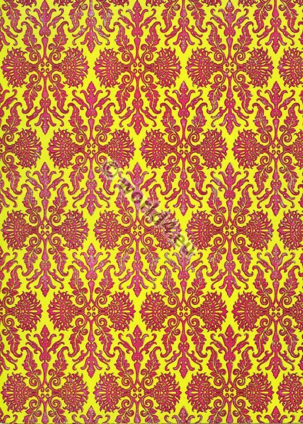 18th century. Rococo Two tone fabric design.