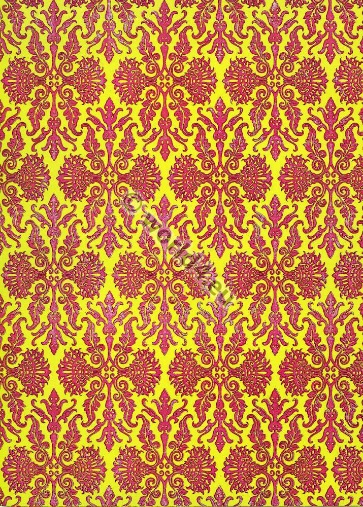18th century. Rococo Two tone fabric design.