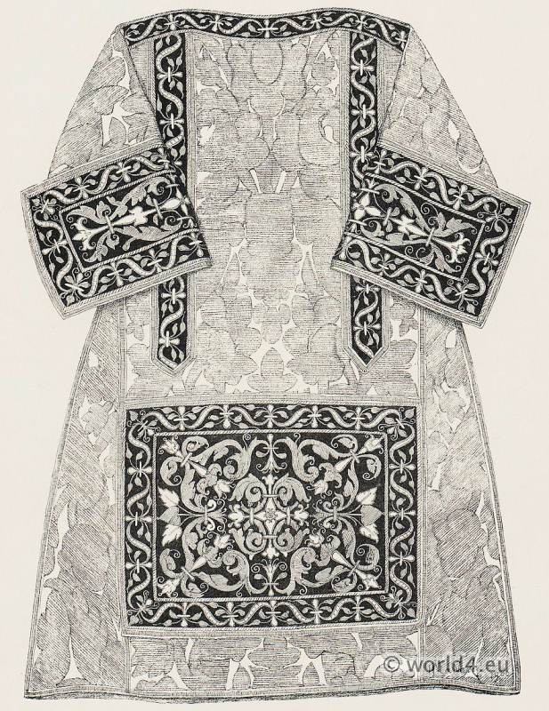 Renaissance clothing. Priest costume. The Chasuble, vestments 16th century.