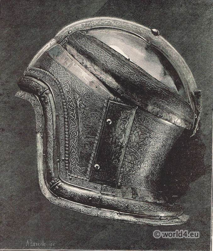 Boabdil, Moorish king. Saracen Helmet. Muhammad XII. weapons. Renaissance weapons