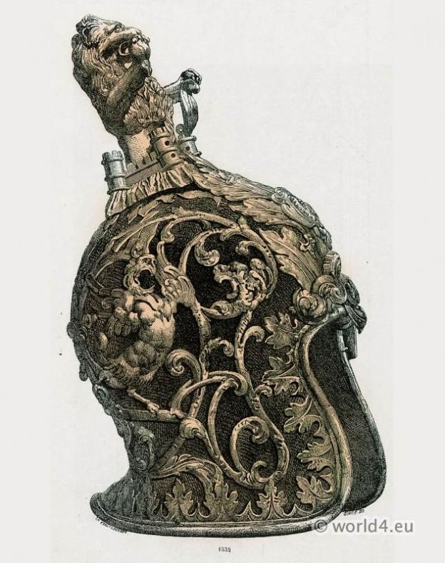 17th century, Helmet, Venetian, weapons, Armor, Baroque,