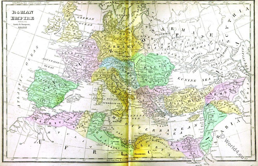 Roman Empire, Ancient, Map,