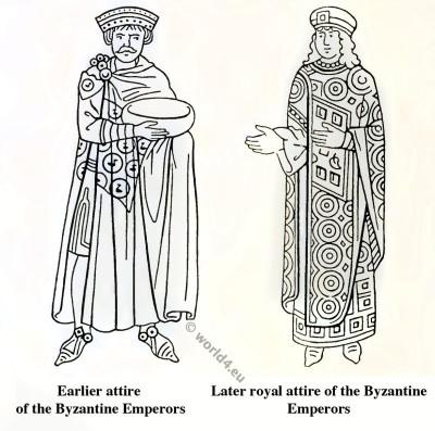 Byzantine costume history. Byzantine Emperors clothing.