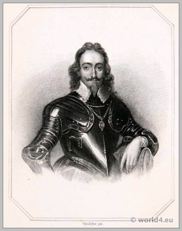 King, Charles, First, Stuart, Armor, England, Baroque,