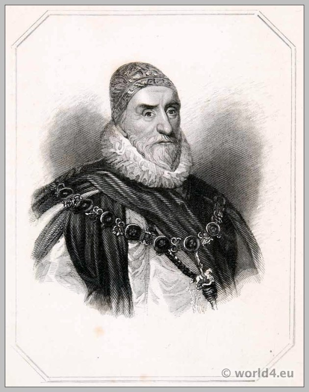 Charles Howard, First, Earl, Nottingham. England, nobility, Stuart, statesman, Lord High Admiral
