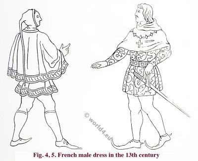 Medieval, dress, 13th, century, Middle ages, fashion history