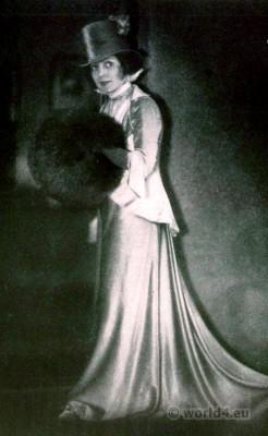Actress Fritzi Massary. 1920s fashion. Art deco costume Berlin. Berlin opera. Die Teresina. Oscar Straus.