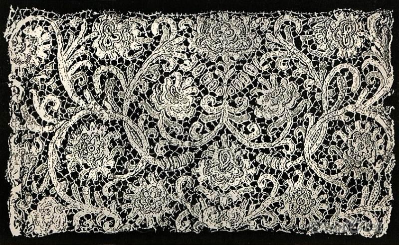 Stitched lace, Alençon, Fashion, history, baroque, 17th, century,