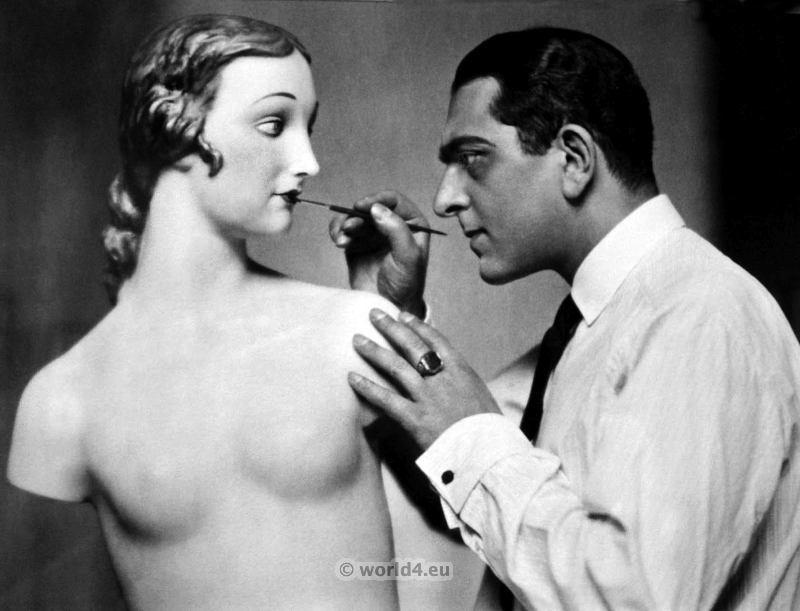 Karl Schenker, German, wax figures, mannequins,