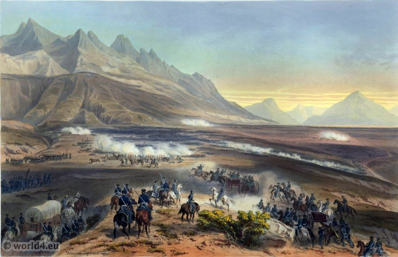 Battle of Buena Vista. Mexican-American War. George Wilkins Kendall. Carl Nebel. Battle of Angostura. Military Soldier Uniforms.