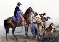 mexico, rancheros, costumes, clothing, spanish, Carl Nebel,