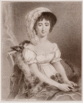 French Revolution Feminist. Merveilleuse French actress Mademoiselle Mars. Directoire Fashion. French 18th century costume. Regency period