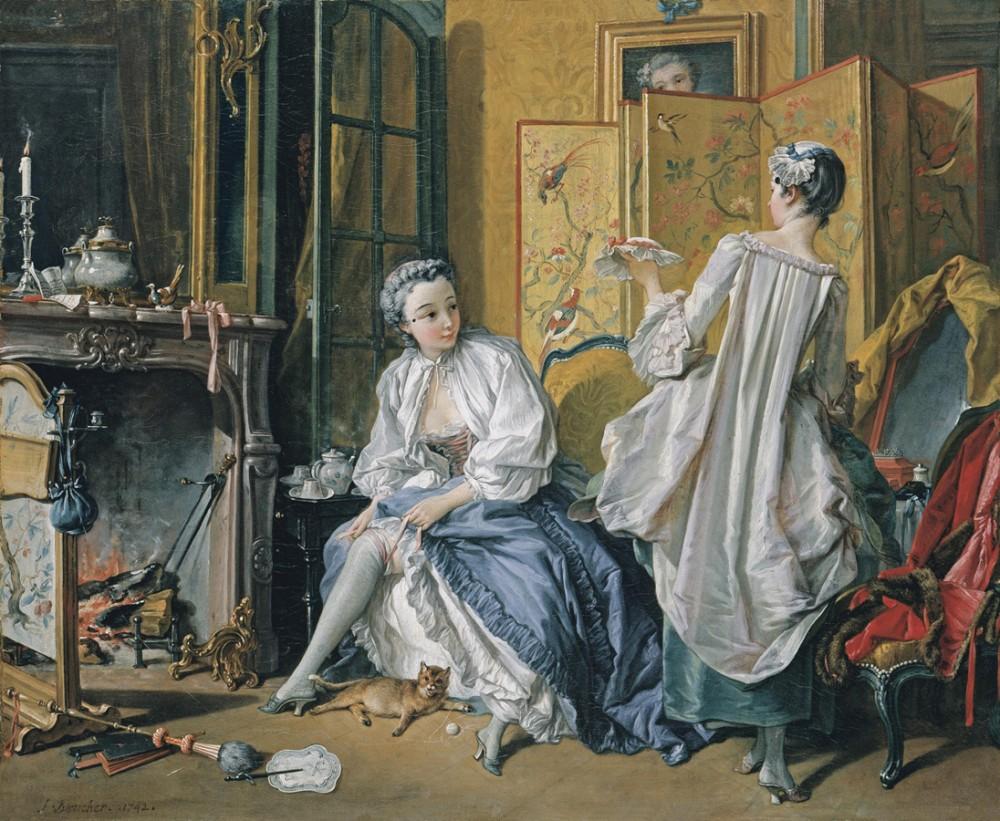 François Bouche, Toilette, Louis XV, Rococo, fashion