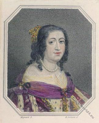 Anne d'Autriche, Queen, France, 17th, century,