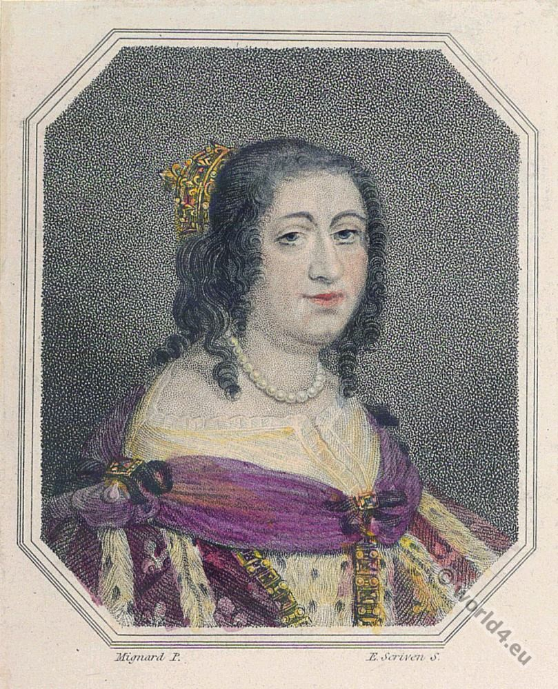 Anne d'Autriche. Queen of France. 17th century