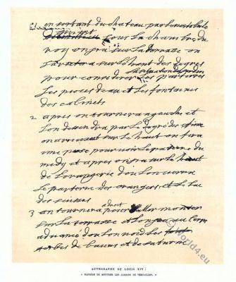 Autograph, Louis XIV,