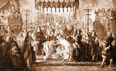 Baptism, Dauphin, Louis XIV, 17th century costumes