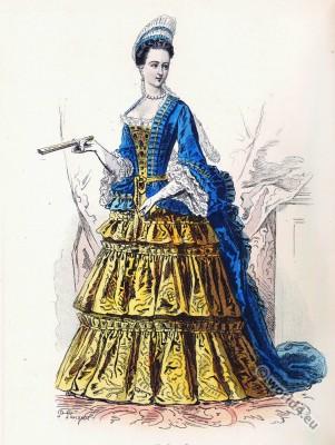 Élisabeth Charlotte d'Orléans, Louis XIV, Fashion, history, baroque, 17th, century, Versailles,