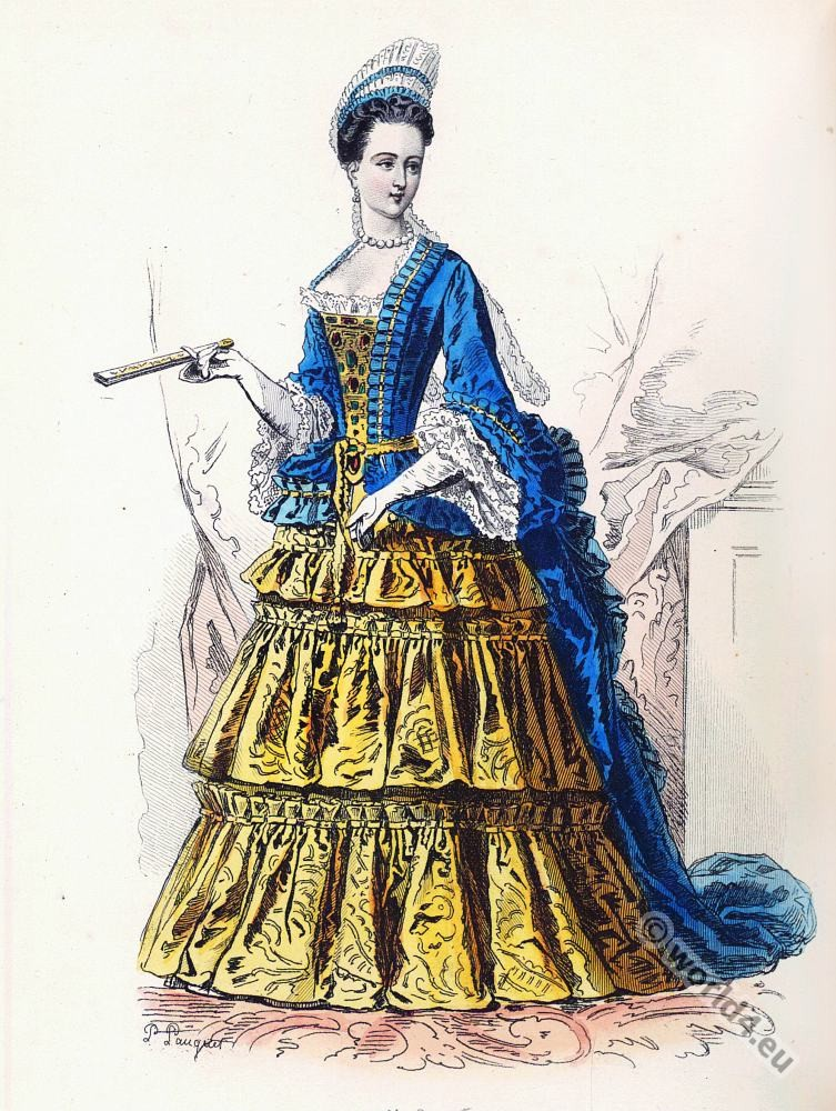 Élisabeth Charlotte d'Orléans, Baroque, Nobility, French, costume, fashion history, historical, dress, 17th century, Louis XIV